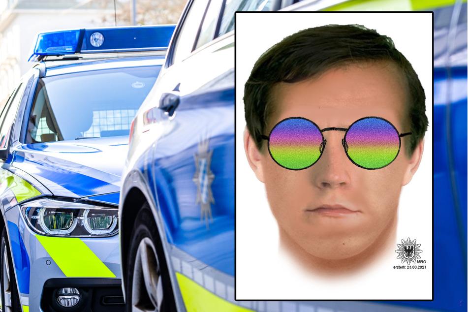 Die Polizei hat ein Phantombild des gesuchten Mannes veröffentlicht.