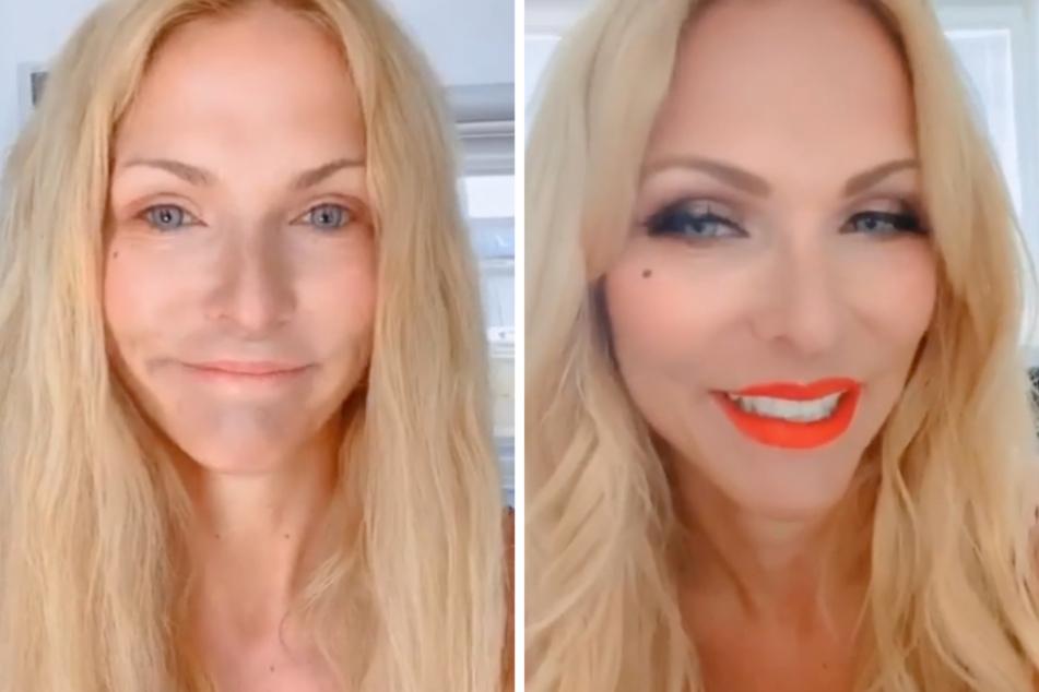 """""""Dieses blasse Elend"""": Sonya Kraus mit und ohne Make-up"""