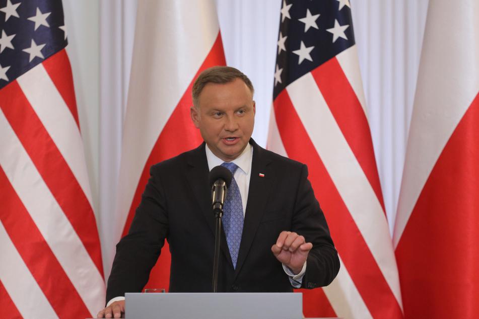 Polens Präsident Andrzej Duda (48) erwartet in Polen eine Migrationswelle aus Belarus.