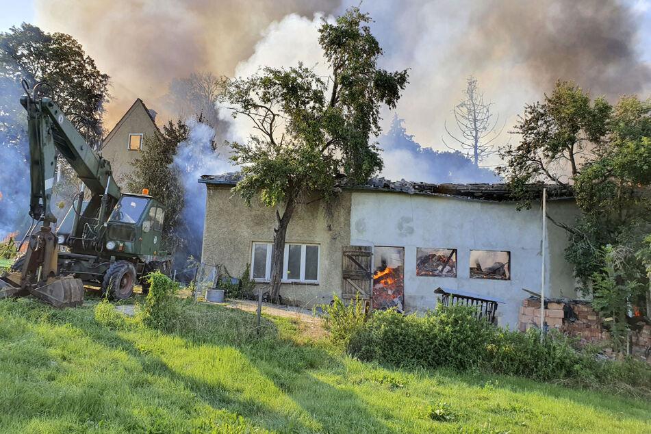 Riesige Rauchwolken wiesen am 12. August 2020 auf den Brand hin. Genauso wollte es Gerd D.