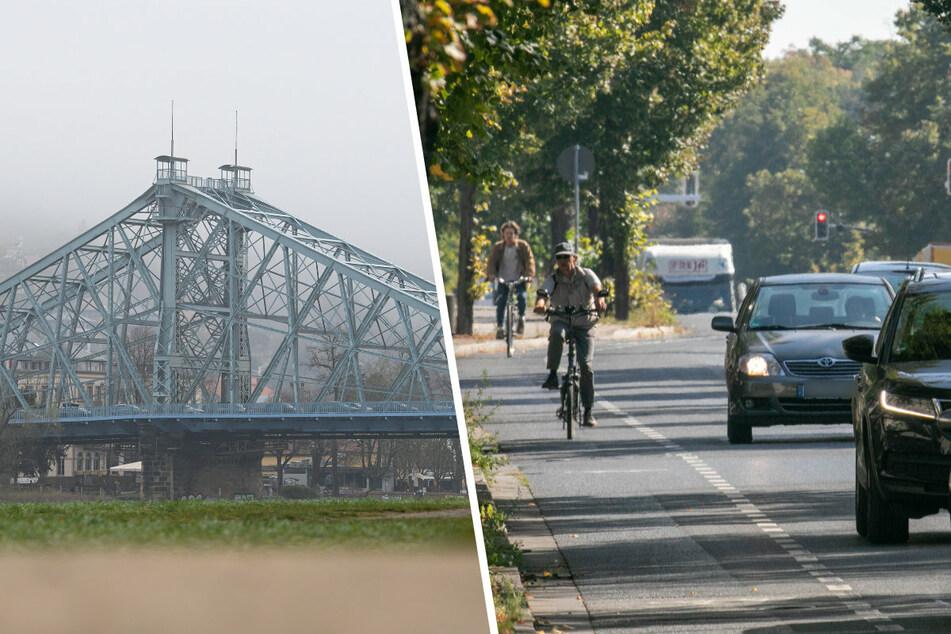 Dresden: Hunderte Hinweise für Dresdner Polizei: Wo ist der Verkehr für Radfahrer am gefährlichsten?