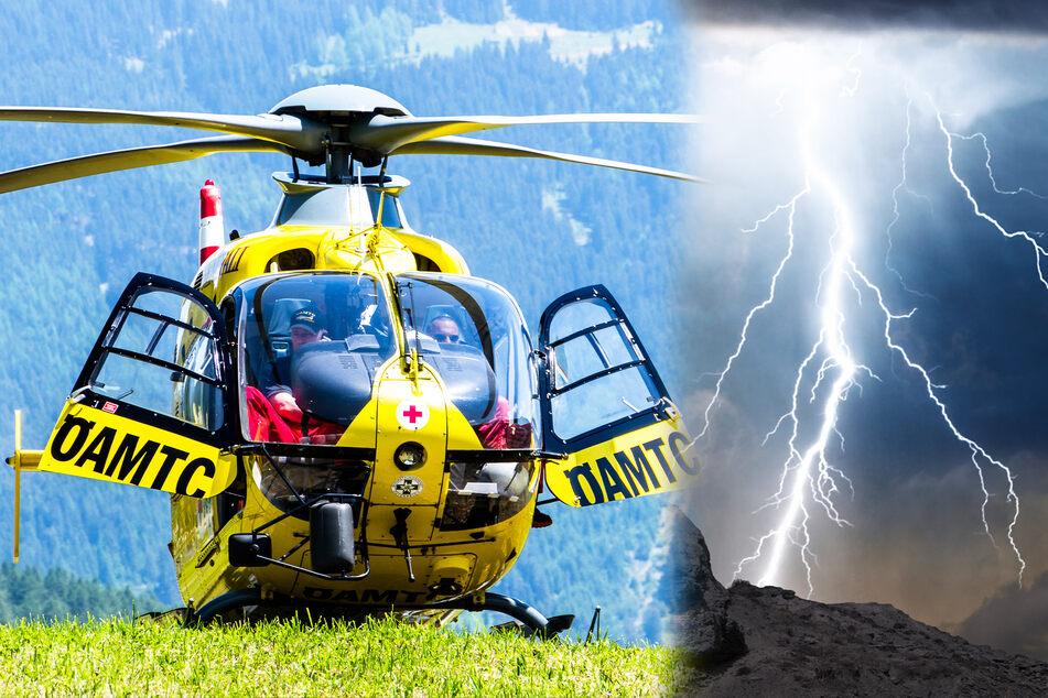 Bei Arbeiten im Unwetter: Fünf Männer von Blitzen getroffen