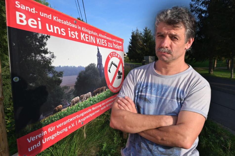 Anwohner-Protest gegen geplante Riesen-Kiesgrube