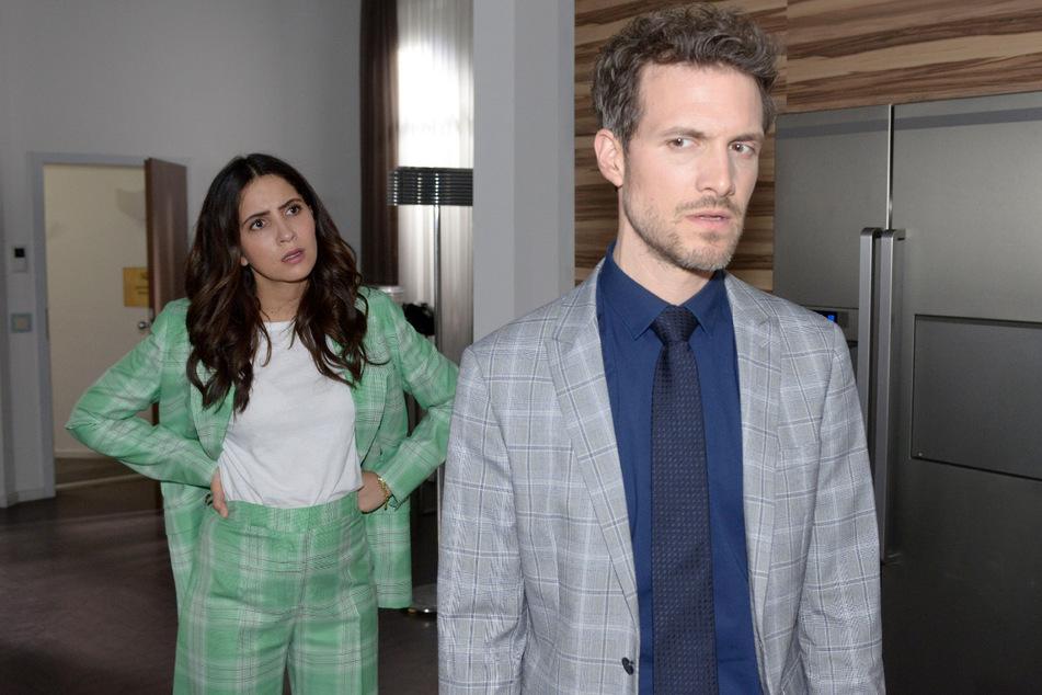 Enttäuscht über die fiese Intrige will Felix (r.) nichts mehr mit Laura zu tun haben.