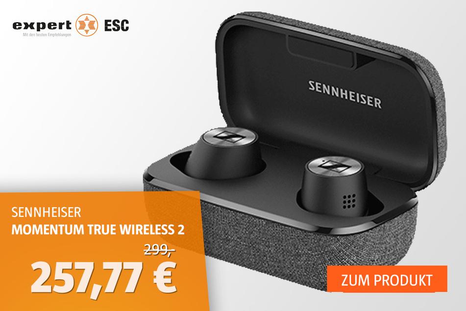 Sennheiser Momentum True Wireless 2 Bluetooth-Kopfhörer für 257,77 statt 299 Euro