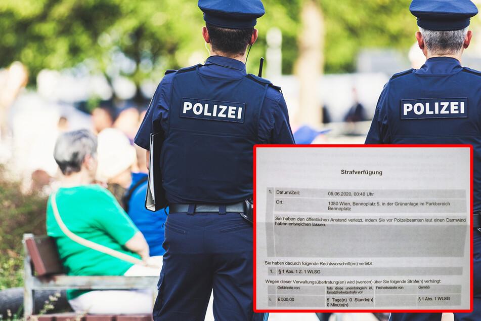 Typ furzt laut und soll 500 Euro Strafe zahlen!