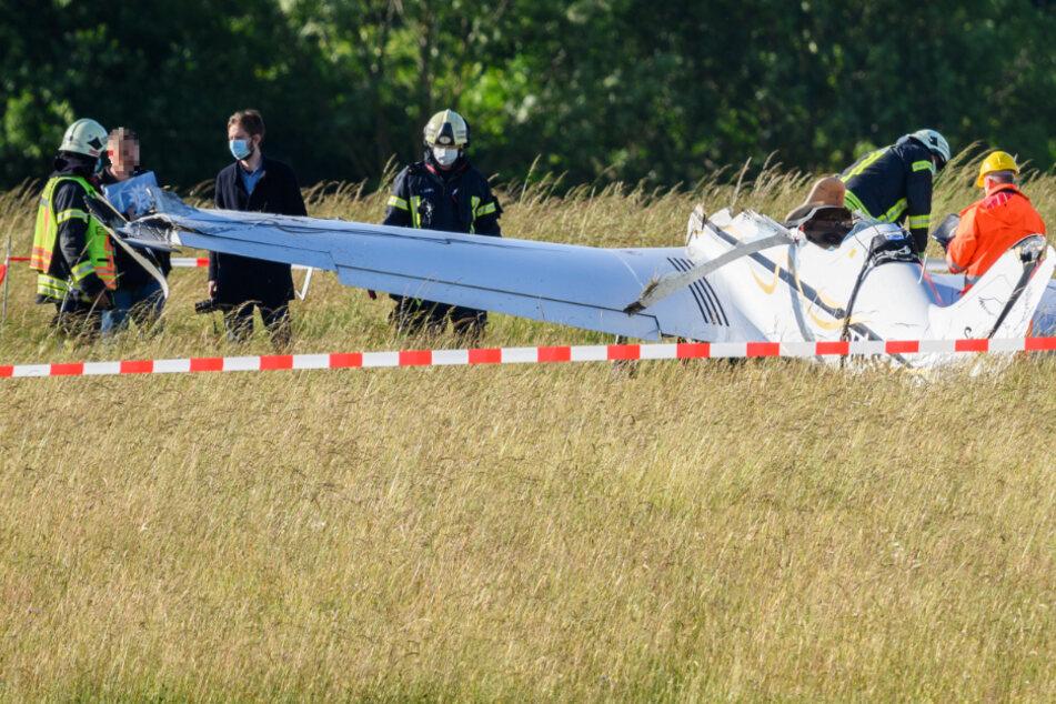 Nach Flugzeug-Absturz bei Gießen: Komplizierte Bergung abgeschlossen