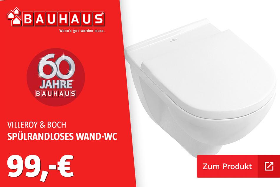 Villeroy & Boch Spülrandloses Wand-WC 'Targa' für 99 Euro.