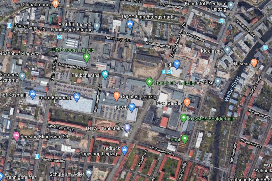 Die Verfolgungsjagd ging von der Karl-Heine-Straße, auf die Zschochersche Straße bis zur Limburger Straße.