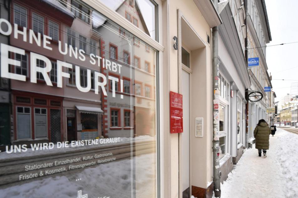 Menschenleere Innenstädte wie hier in Erfurt wird es auch in den kommenden Tagen zu sehen geben.