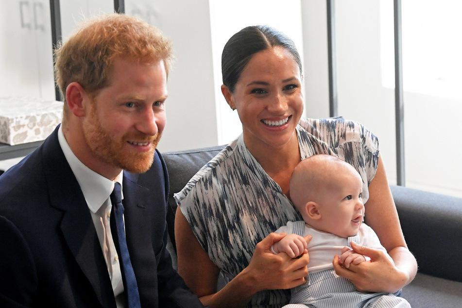 Prinz Harry und seine Frau Meghan zusammen mit Söhnchen Archie.