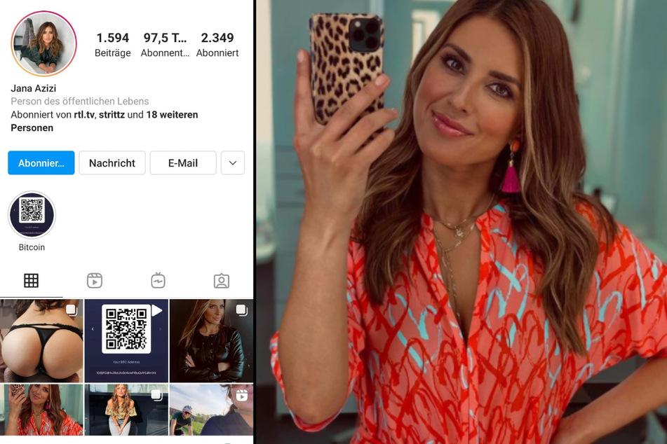 Jana Azizis (31) Instagram-Profil sorgt für Aufsehen. (Fotomontage)