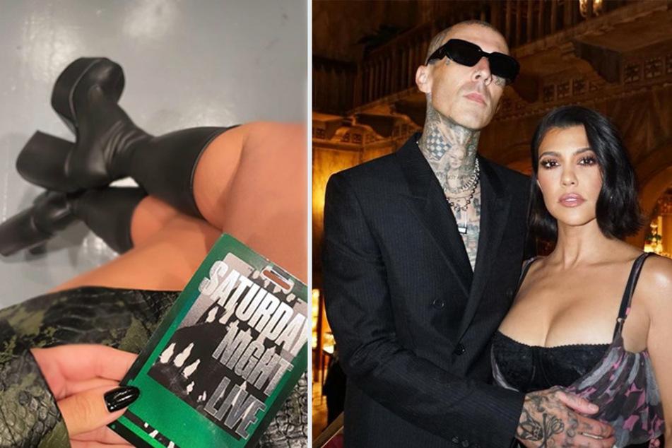 Kourtney Kardashian supports Travis Barker at SNL after ghosting her sister's hosting gig