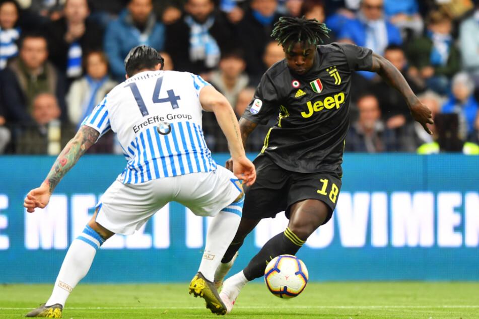 Moise Kean (r.) gab bereits mit 16 Jahren sein Profidebüt für Juventus Turin.