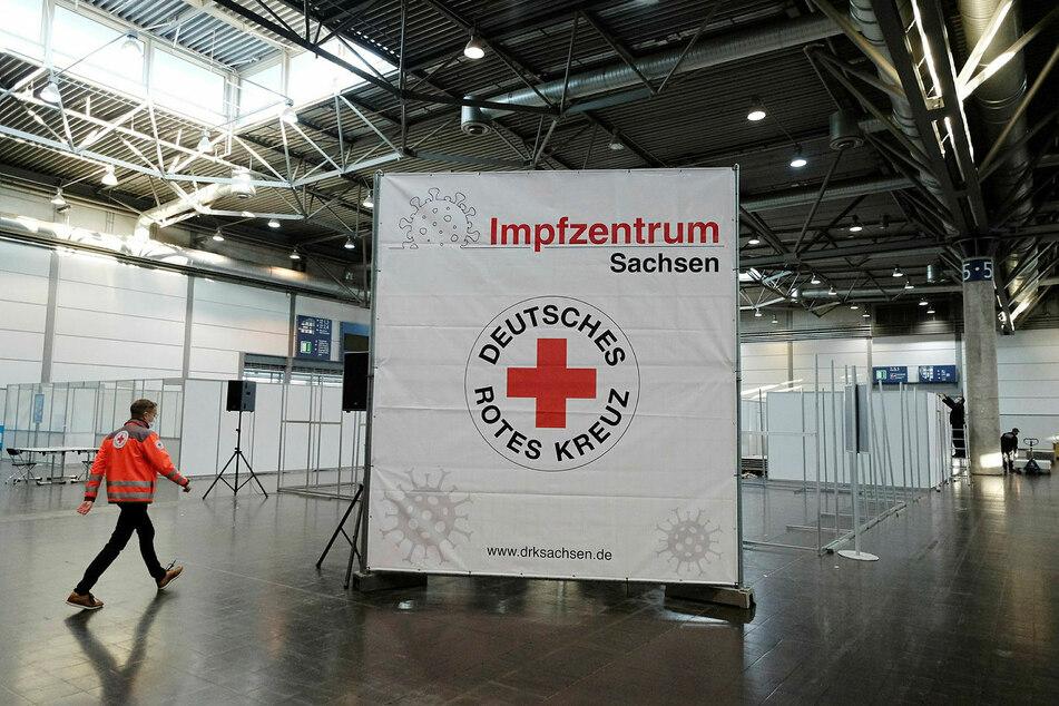 In der Messe Leipzig befindet sich eines von 13 sächsischen Impfzentren.