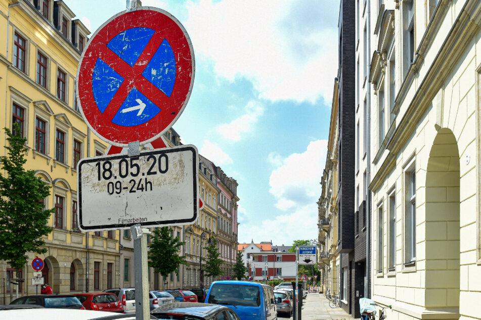 Ein Tag Filmkulisse: Heute sind Dreharbeiten in der Dresdner Neustadt angesetzt.