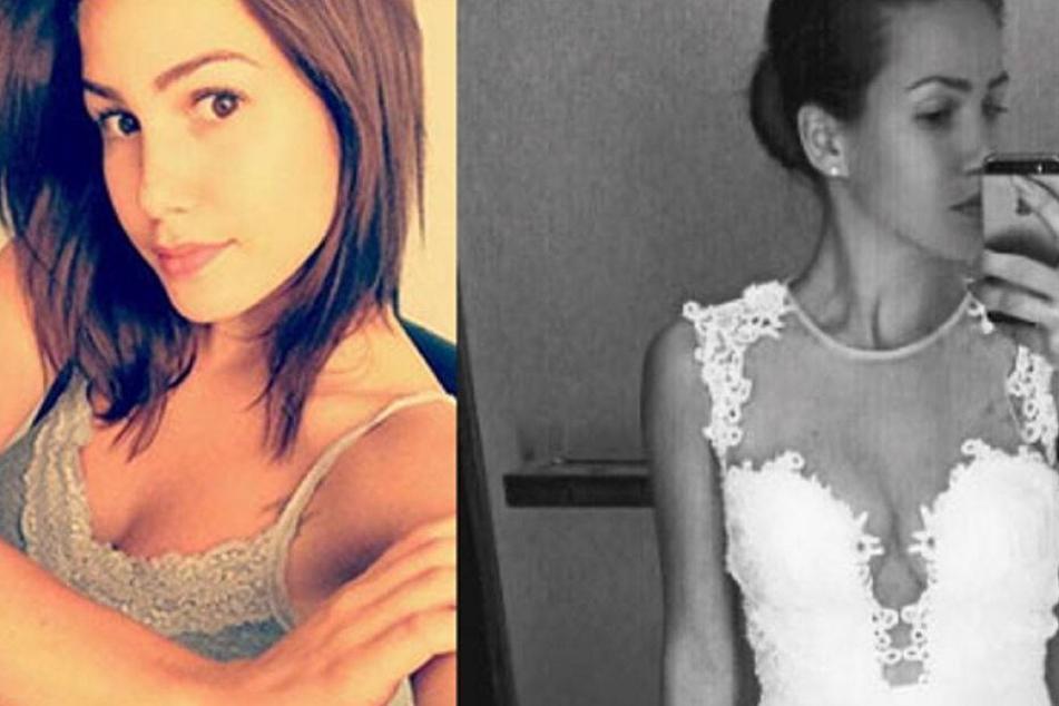 Brautkleid-Foto: Was geht denn da bei Angelina Heger?