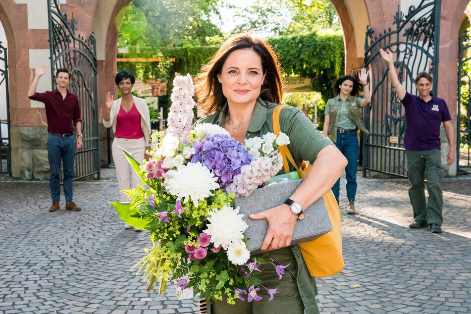 Tierärztin Dr. Susanne Mertens verabschiedete sich am Dienstag vom Leipziger Zoo und den Fernsehzuschauern.