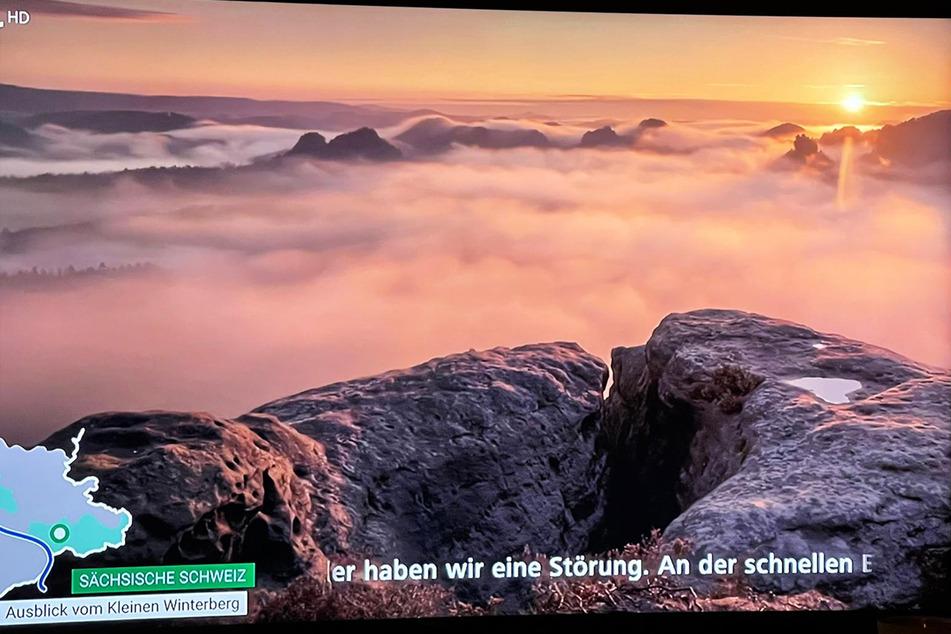 Unter anderem diese Aufnahme aus dem Elbsandsteingebirge gab es beim MDR ungewollt zu sehen.