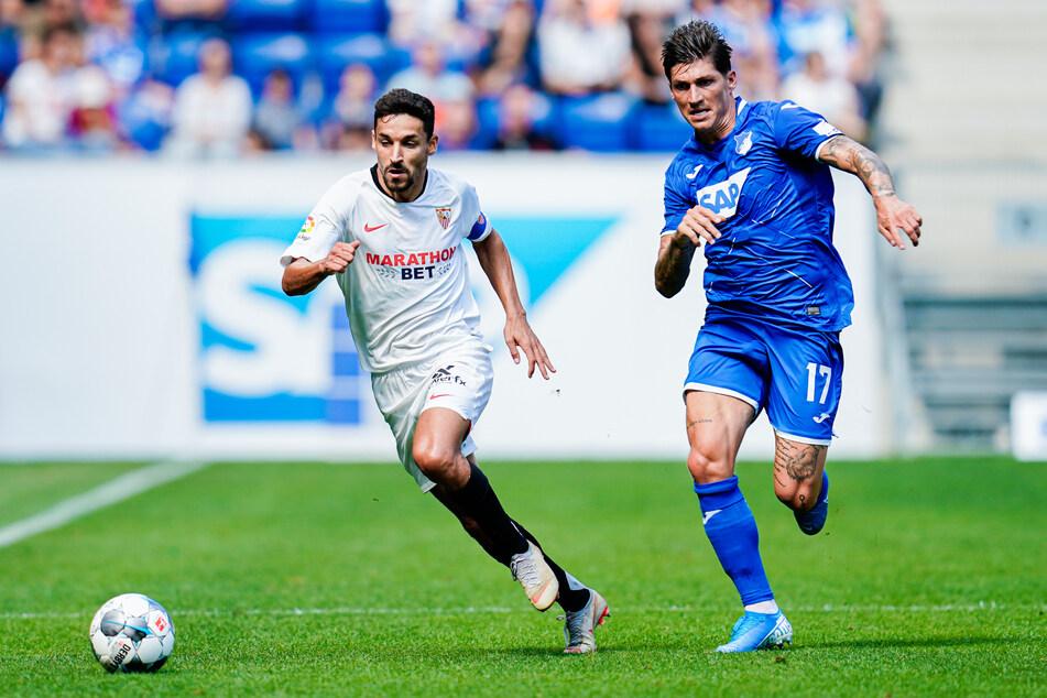 Steven Zuber (28, r.) kommt von der TSG Hoffenheim nach Frankfurt.