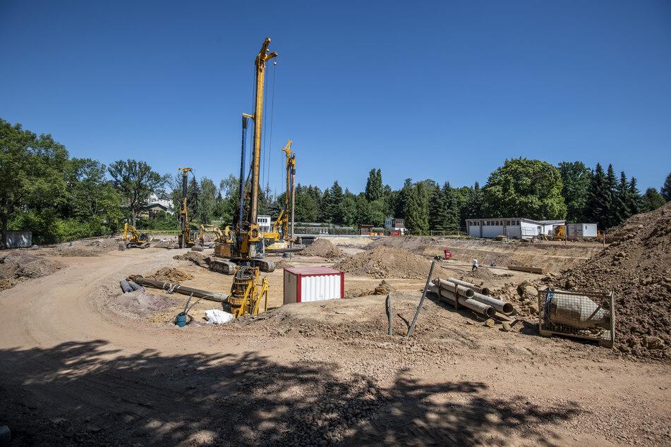 Das Freibad Bernsdorf wird zu einem Schwimmsportkomplex um- und neugebaut. Der Plan für das 100-Meter-Becken steht noch nicht.
