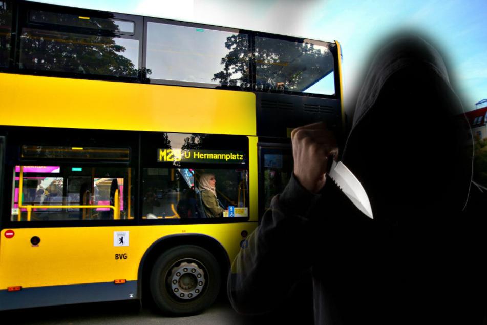 Ein 21-jähriger Mann hat die Fahrgäste in einem Berliner Bus mit einem Messer angegriffen. (Symbolfoto)