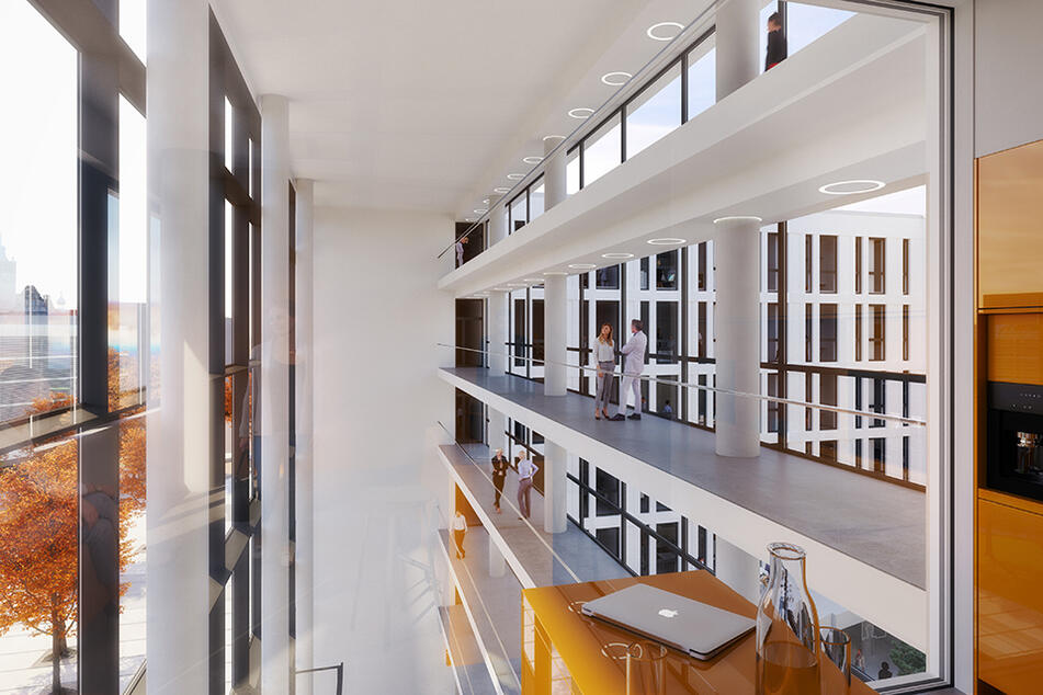 Riesige Glasfronten sollen reichlich Licht ins Innere bringen.