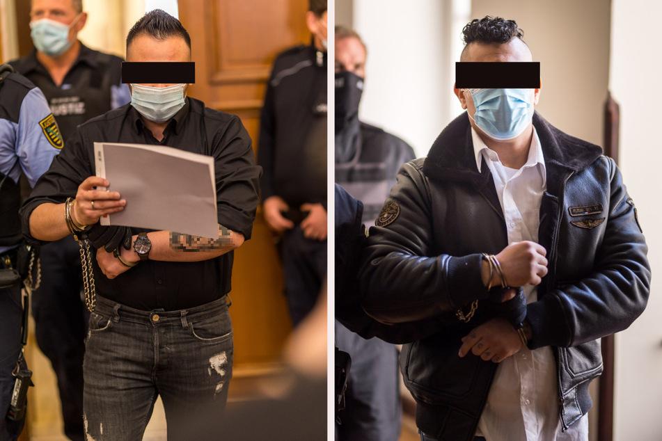 Könnten wegen der Prozess-Panne auf freien Fuß kommen: der mutmaßliche Pistolen-Schütze Saif F. (26, l.) und der mutmaßliche Macheten-Mann Ashraf G. (27, r.).