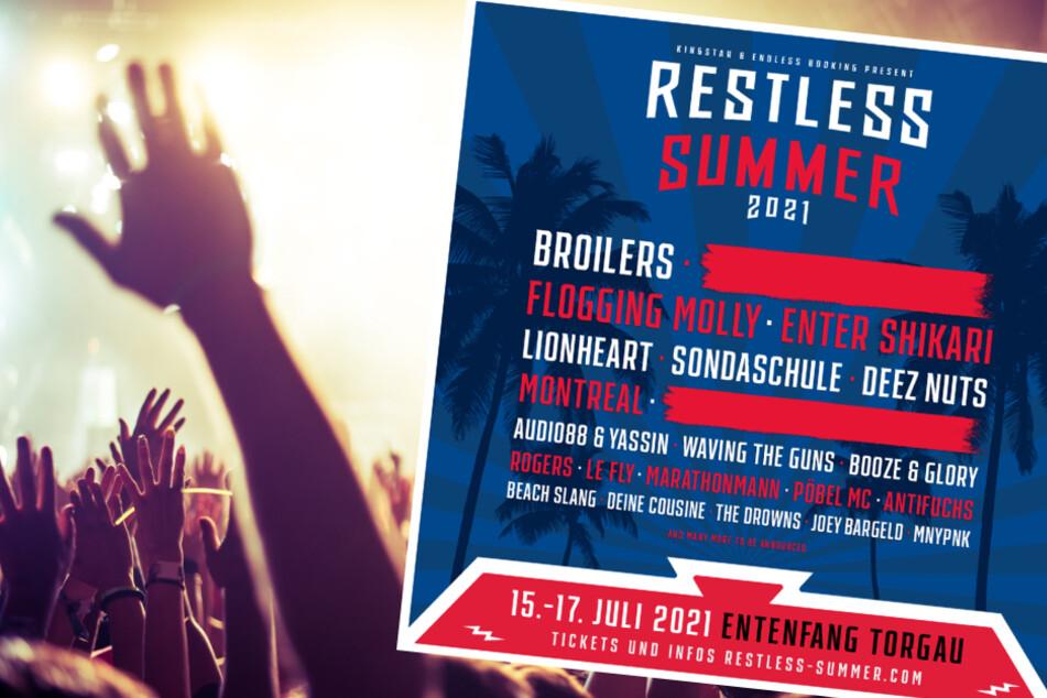 Das Line-Up für das Restless Summer 2021 kann sich bereits jetzt sehen lassen!