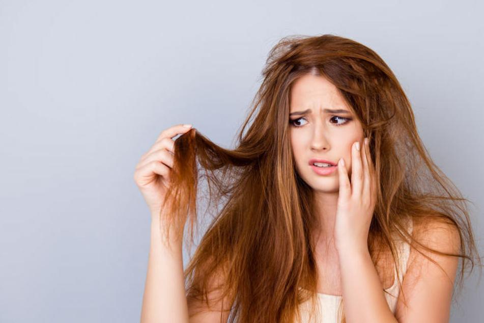 Die saure Rinse mit Essig wirkt wahre Wunder bei sprödem Haar.