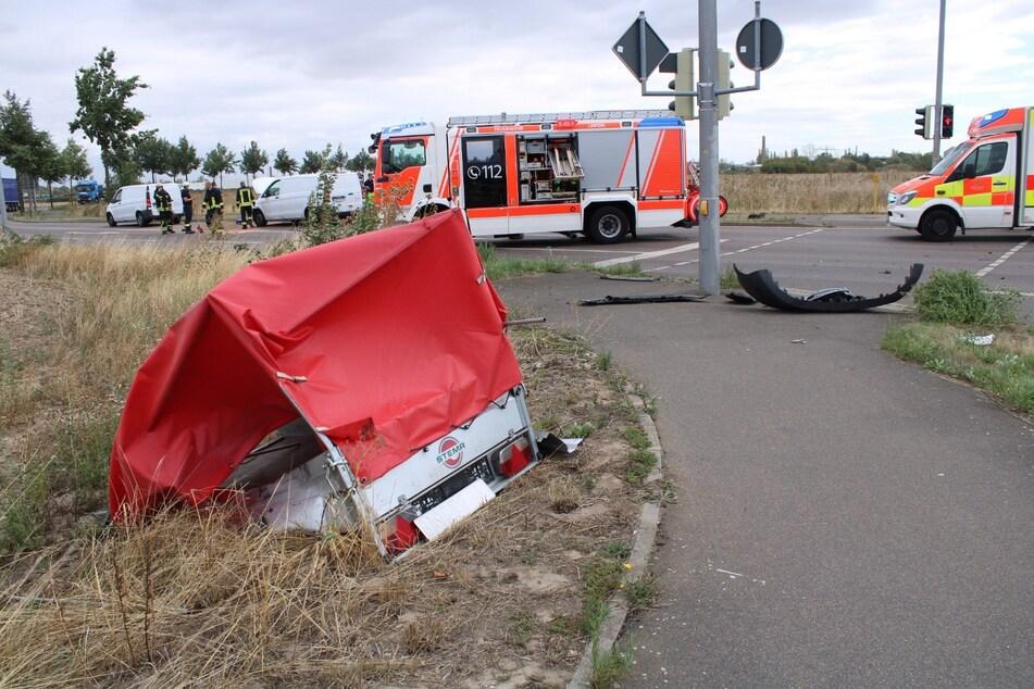 Gegen 10 Uhr hatte es auf der Kreuzung in Leipzig-West geknallt.