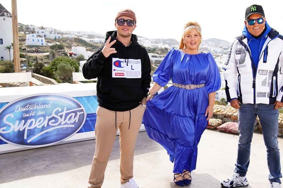Zurzeit ist der Poptitan noch mit Maite Kelly und Mike Singer (l.) in der aktuellen Staffel zu sehen.