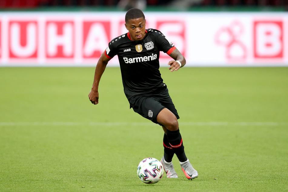 Leverkusens Leon Bailey in Aktion.
