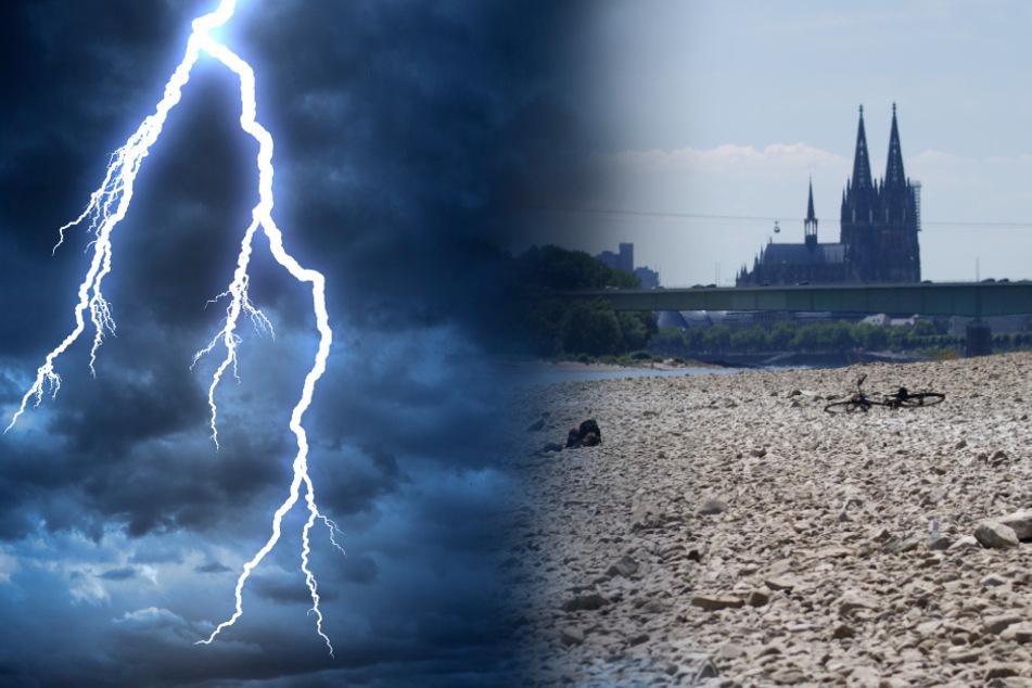 Nach Hitze in NRW folgen Gewitter und Regen!