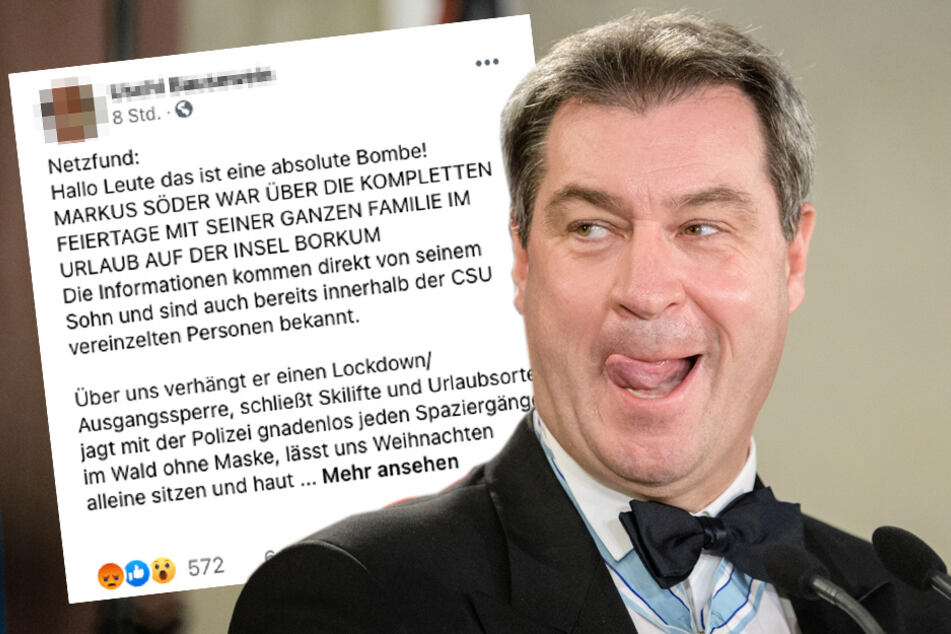 """Faktencheck: Söder auf Borkum? Staatskanzlei spricht von """"absurder Verschwörungstheorie"""""""