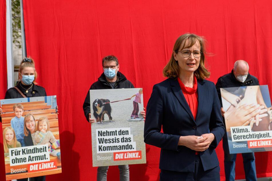 Eva von Angern (44) geht bei den Landtagswahlen in Sachsen-Anhalt als Spitzenkandidatin der Linken ins Rennen.