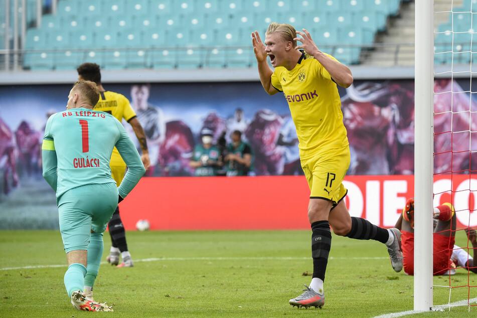 Erling Haaland (20) hat im vergangenen Juni in der Leipziger Red Bull Arena den 2:0-Endstand für die Borussen besorgt. (Archivbild)
