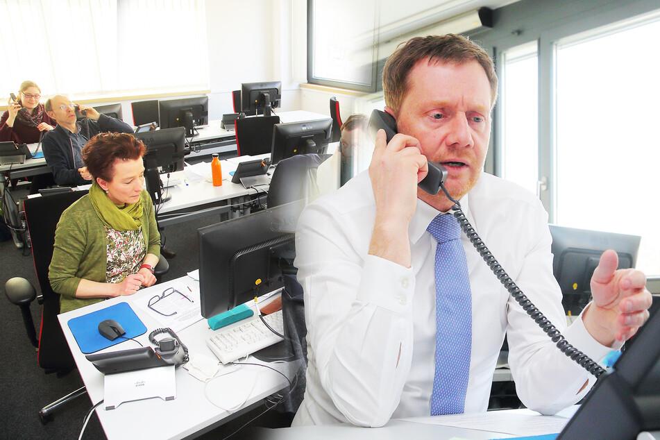 Ministerpräsident Kretschmer eröffnet (persönlich) erste Corona-Hotline!