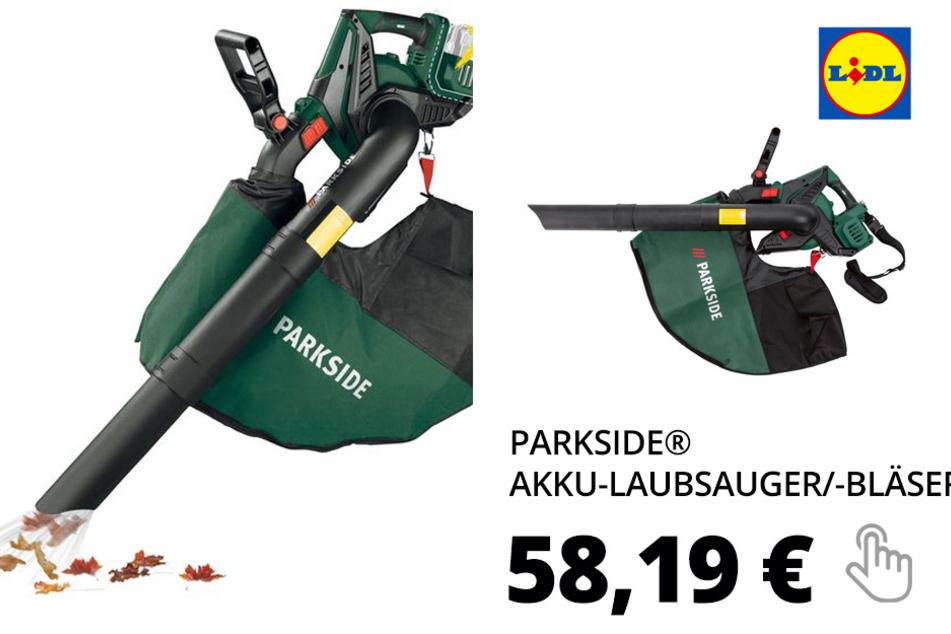 PARKSIDE® Akku-Laubsauger/-Bläser »PLSA 40-Li B1«
