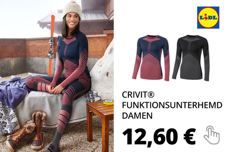 CRIVIT® Funktionsunterhemd Damen, mit Komfortbund