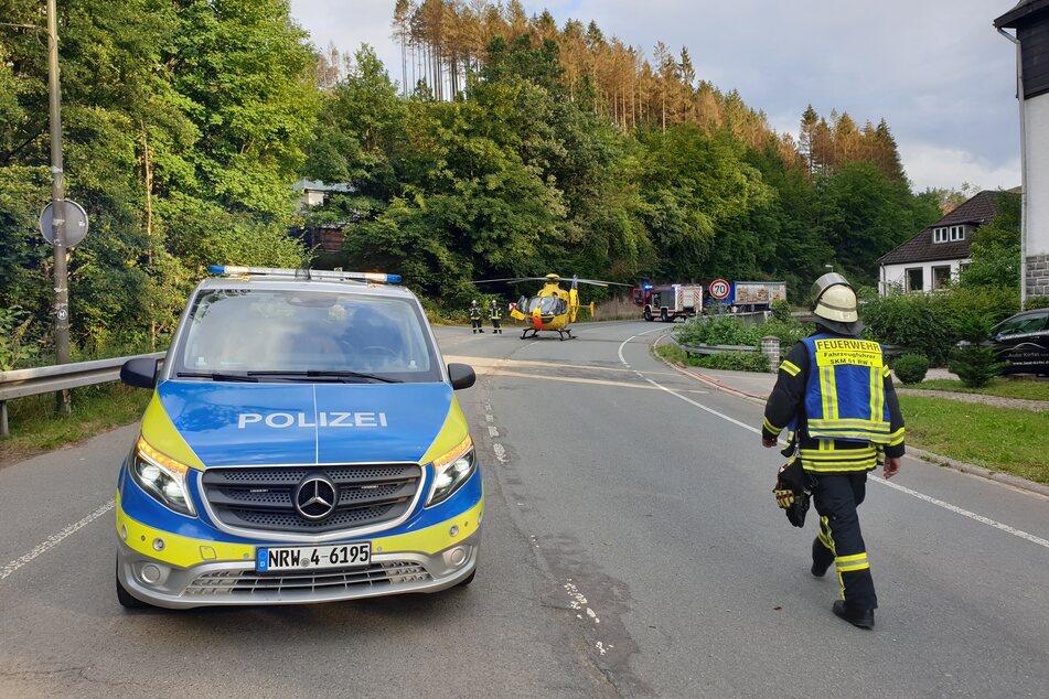In Schalksmühle (Märkischer Kreis) ist eine Motorrad-Fahrschülerin bei einem Unfall am Donnerstag schwer verletzt worden.