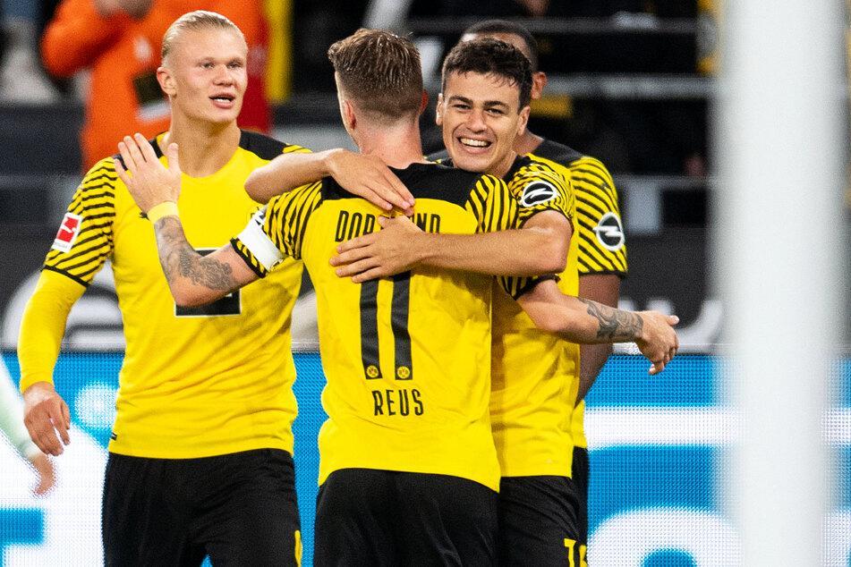 Giovanni Reyna (r.) brachte Borussia Dortmund gegen die TSG Hoffenheim mit 1:0 in Führung.