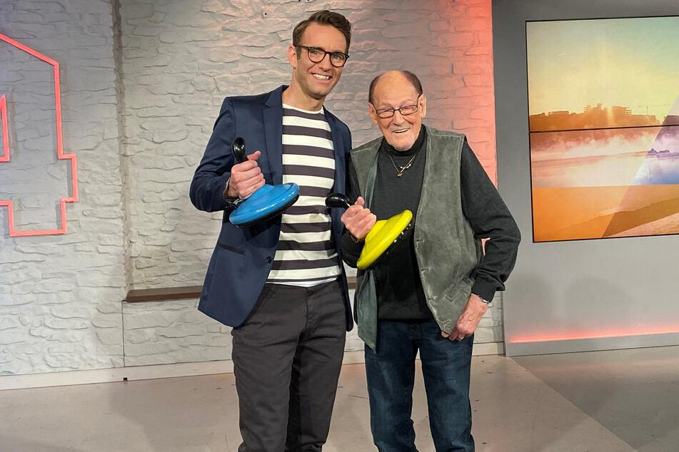 Legende ohne Ende: Herbert Köfer feierte seinen 100. Geburtstag bei Moderator Peter Imhof (47), der am Dienstag mit Vroni Fischer spricht.