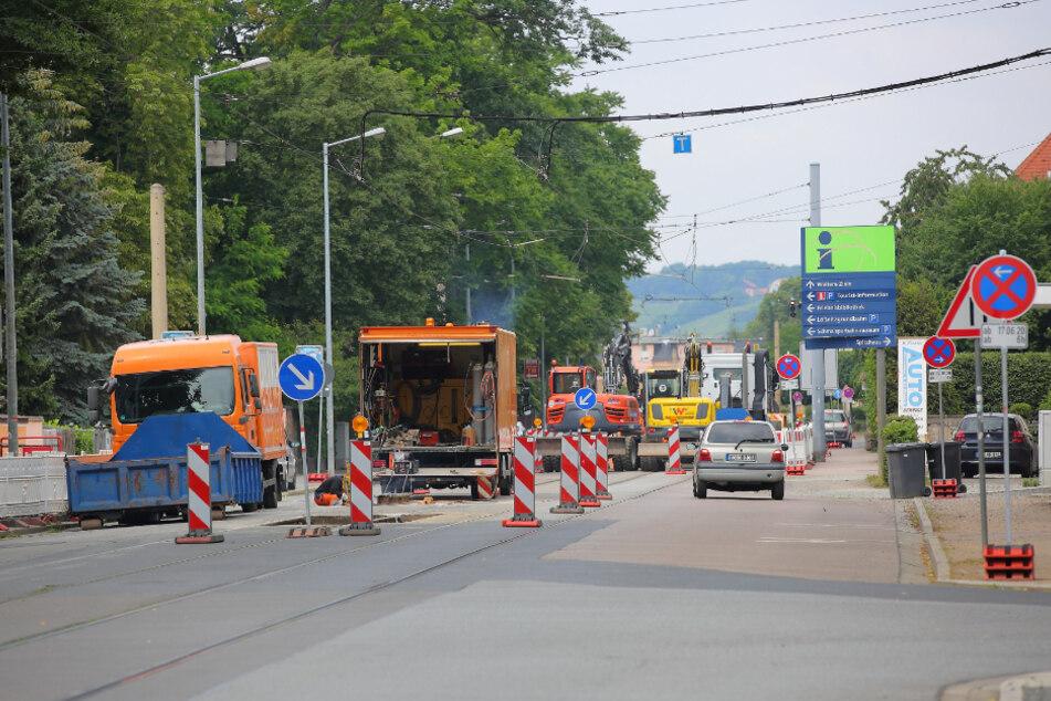 Bis Montag sind die letzten Arbeiten erledigt, dann kann die Linie 4 wieder bis nach Weinböhla fahren.