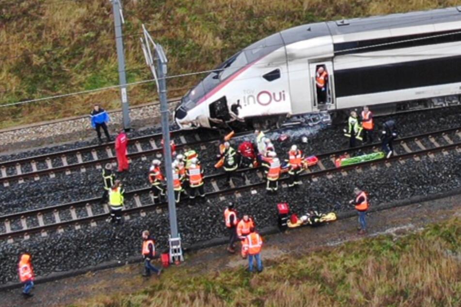 Zugunglück: TGV mit 348 Reisenden an Bord im Elsass entgleist