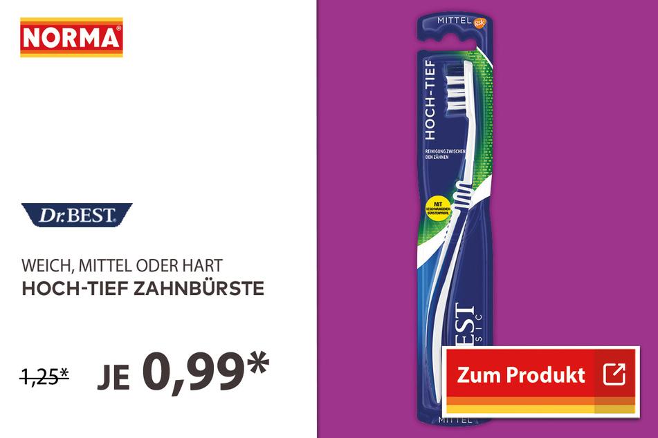 Hoch-Tief Zahnbürste für 0,99 Euro.