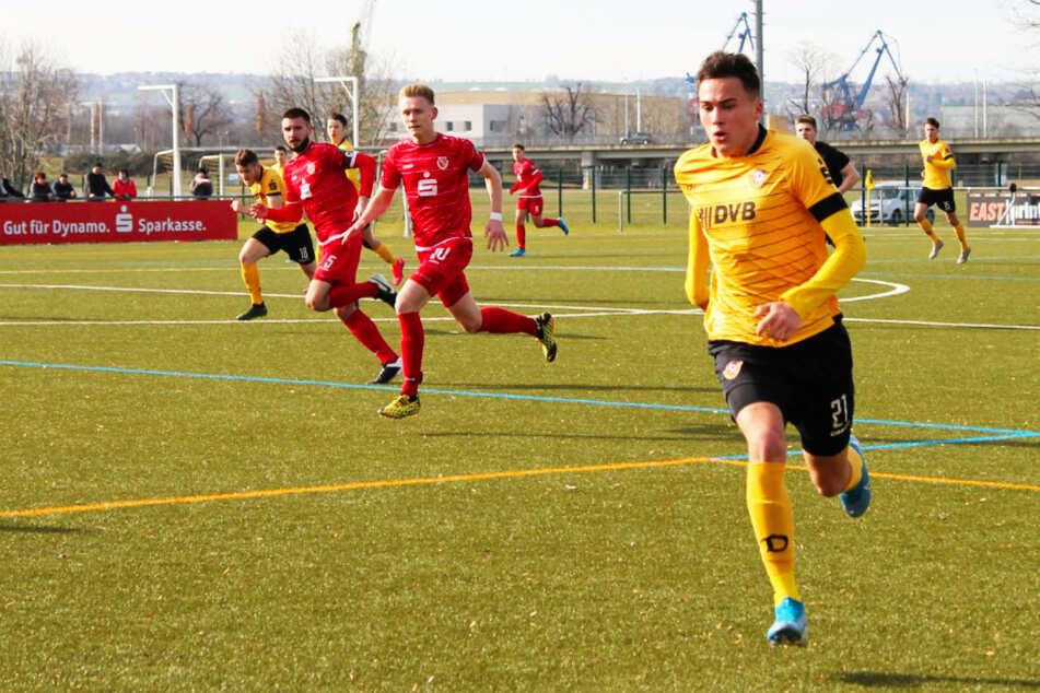 Simon Gollnack (19) glänzte in der Saison 2019/20 als Torjäger in Dynamos U19 und hat für den FK Usti nad Labem nun auch sein erstes Profitor erzielt.