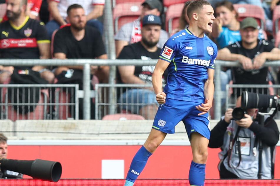 Die Entscheidung: Bayers Florian Wirtz zeigt sich nach seinem 3:1-Treffer euphorisch.