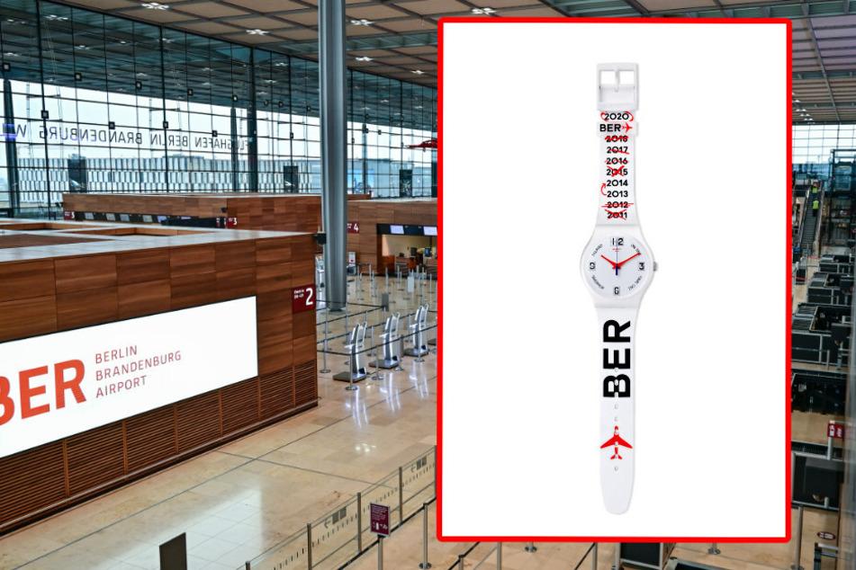 Pünktlich zur BER-Eröffnung: Swatch-Uhr zeigt neun Jahre Verspätung an