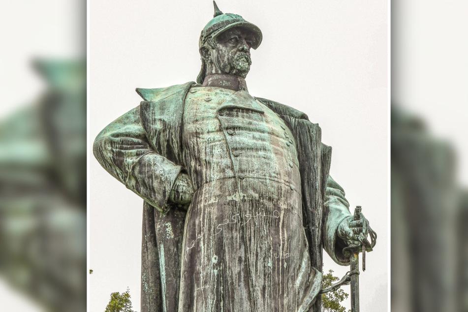 """Das Bismarck-Denkmal in Lübeck - so oder so ähnlich darf man sich die """"neue"""" Bismarck-Figur auf dem Czerneboh vorstellen."""